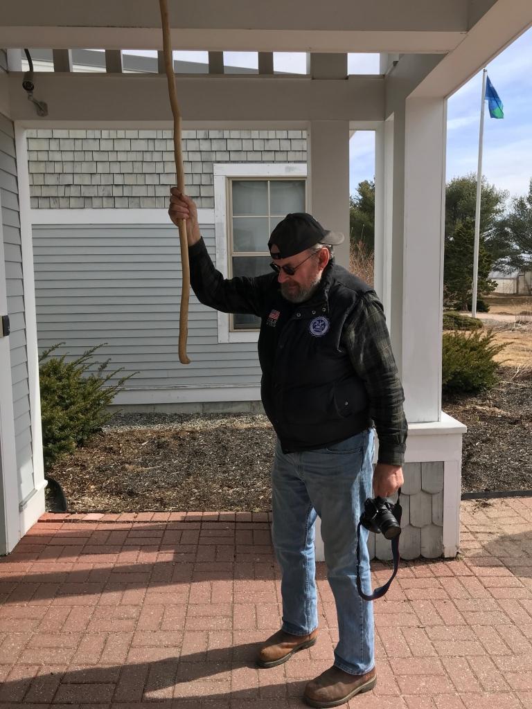 Colby Pert rings the school bell, 3/15/20